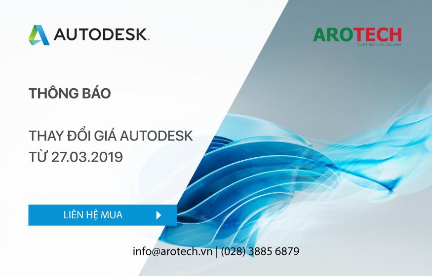 Thông báo thay đổi giá Autodesk từ 27.03.2019