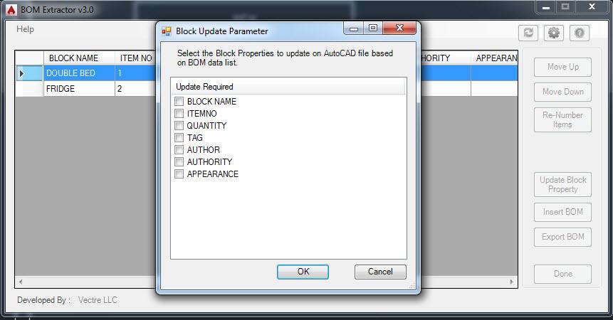 Ứng dụng BOM Extractor miễn phí dành cho AutoCAD và BOM